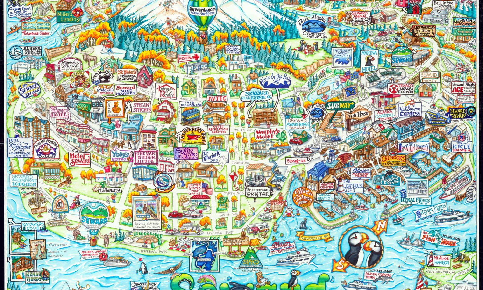 Seward – Alaska Attractive Maps